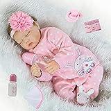 ZIYIUI Realista Muñecas Reborn 22 Pulgadas 55 Cm Bebe Reborn Niña Suave Vinilo de Silicona Recién Nacido Niño Niña Regalo Juguete Reborn Dolls