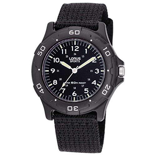 Seiko Jungen Analog Quarz Uhr mit Nylon Armband RRX89FX9