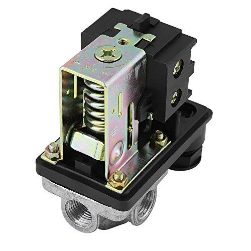 Luchtcompressor schakelaar, 240 V 16 A 90 psi -120 psi high-performance luchtcompressor-drukschakelaar-besturing met vier aansluitingen.
