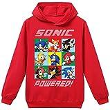 Silver Basic Niños 2D Impreso Sonic The Hedgehog Sudadera con Capucha Película Video Juego Sonic Cosplay Disfraz Sonic Shadow Sudadera Sonic Jumper 110,Rojo Sonic Cosplay-2