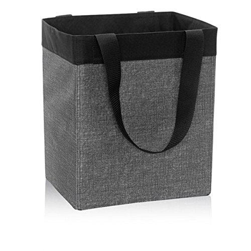 Thirty One Essential Storage Tote in Charcoal Crosshatch - No Monogram - 4446
