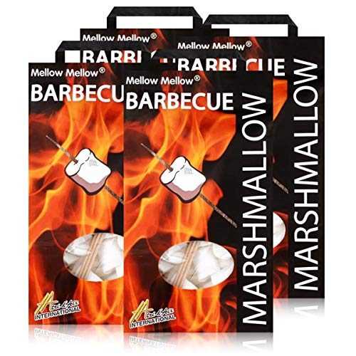 Mellow Mellow Marshmallow Barbecue Bag 500g - Inklusive drei Spieße (4er Pack)
