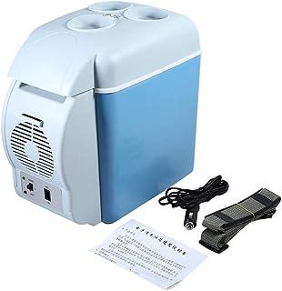7.5L 12V 37W Mini Car Travel Fridge Cooler Warmer Small Refrigerator Portable Camping Travel Refrigerator Low Noise and En...