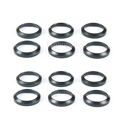 "TACFUN 12 PCS Steel Crush Washers for 5/8"" x24 Thread Muzzle Device Alignment Pack of 12"