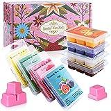 SaiXuan Cubos de cera de fragancia,Velas Perfumadas Cera de soya 100% derretida para fragancias de la habitación,paquete de 8 x 70.9 g