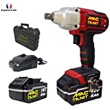 Puissante Clé à chocs, Boulonneuse à chocs sans fil 18V MAC-TANIT, 350 N-m + 2 batteries 4Ah et Chargeur rapide 1 h, 0 à 3500 ipm