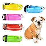 H87yC4ra Collar Para Mascotas Recargable Por USB, Collar De Luz LED Intermitente Para Cachorros De Perro Collares Anti-perdidos Accesorio Para Mascotas verde XS