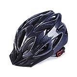 TBSHLT Casco ecológico Super Light Integral Bike Helmet Casco Ajustable Mountain Bike Cascos para Hombres y Mujeres, Black