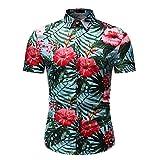 Playa Shirt Hombre Moderna Urbana Moda Estilo Hawaiano Hombre Shirt Verano Ajustado Cárdigan Hombre Manga Corta Casual Vacaciones Transpirable Henley Camisa HZ16 3XL