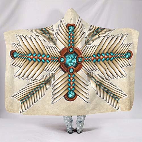 Tentenentent Manta grande con capucha para hombre, color blanco, 130 x 150 cm