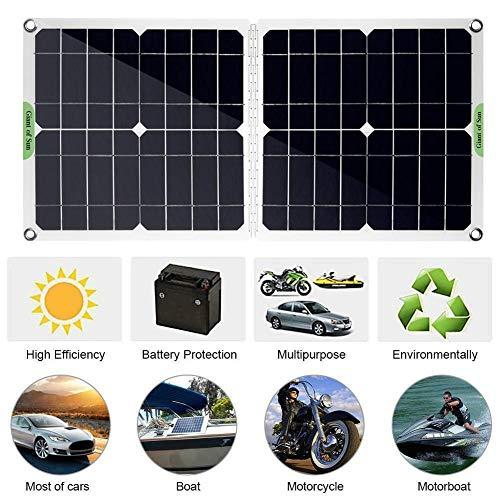 Draulic Solarpanel Set 100W 12V / 5V Solarpanel mit Autobatterieladung -Controller Tragbare Solar-Erhaltungsbatterie-Wartung für Auto-Boot-Motorrad