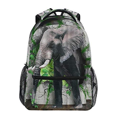 HaJie Backpack Africa Wild Animal Elephant Travel Daypack Large Capacity Rucksack Casual School Book Bag Shoulder Straps Computer Laptop Bag for Womens Mens Teenage Girls Boys