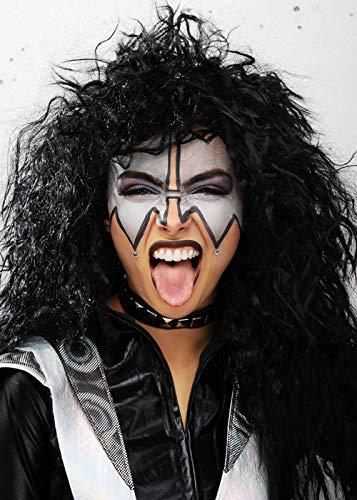 Magic Box 1980er Jahre Rockstar Kiss Style Black Demon Perücke