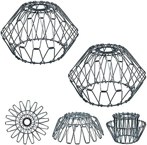 2 Pcs Diamond Hanging Pendant service Fixture lampshade All items free shipping Metal Lighting