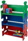 KidKraft 14400 Estantería infantil de madera con diseño puzzle y 3 estantes,...