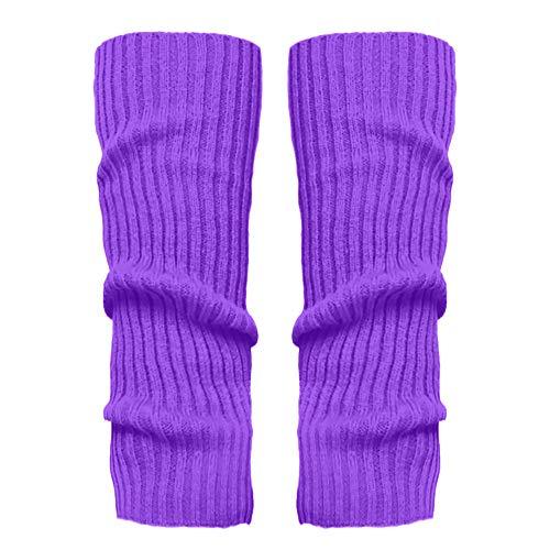 Stulpen Damen,1 Paar Mode Beinlinge Twist gestrickte Beinlinge Socken Boot Cover warme Leg Socken Teens Grobstrick Legwarmers(Lila)