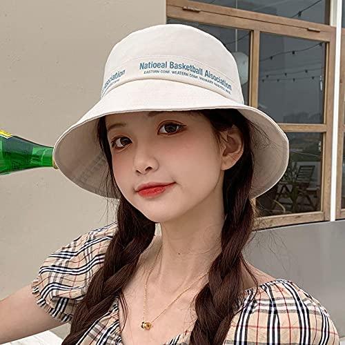 WAZHX Sombrero Mujer Primavera Moda Cien Estudiantes Verano Sombrero De Pescador Sombrilla Sombrero De Lavabo Beige [Cortavientos]