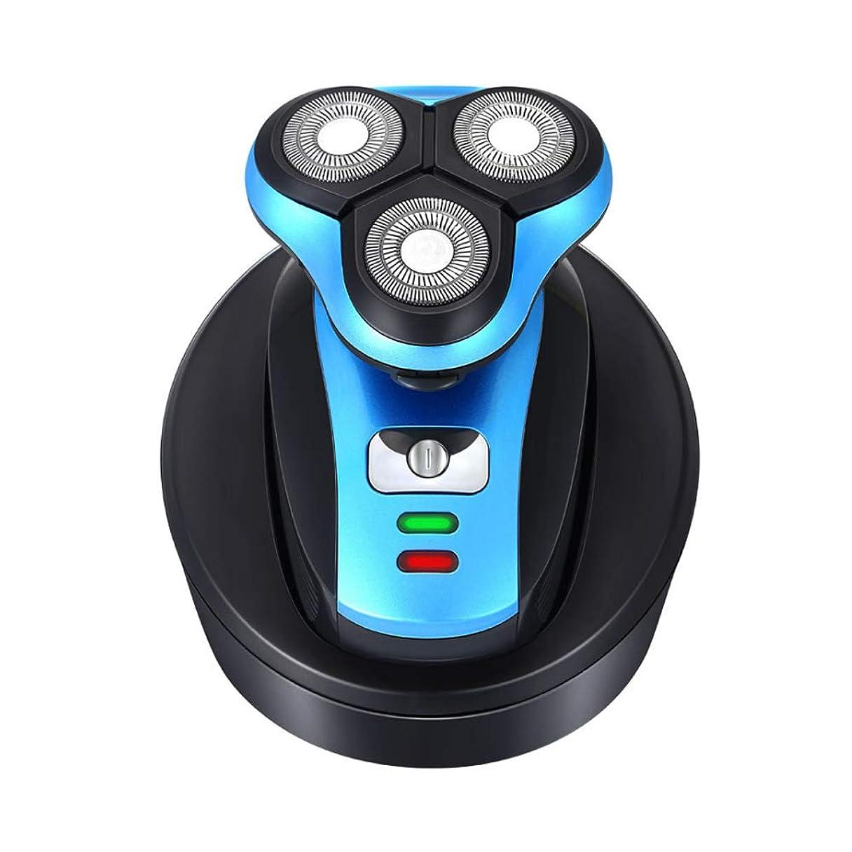 抑制する厚さ理解する3D回転およびフローティングヘッド、ウェット&ドライテクノロジーを備えた男性用電気シェーバーは、フェイシャルケア用の防水ヒゲトリマー