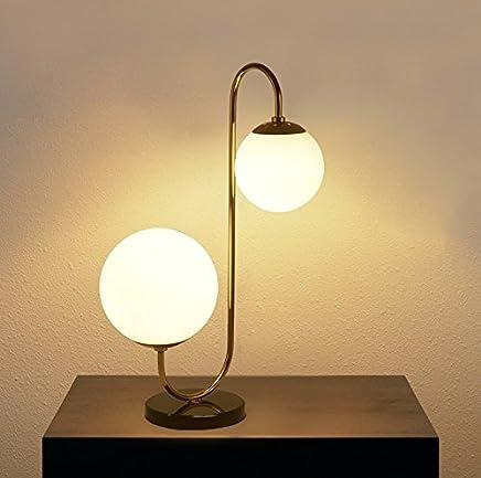 MILUCE クリエイティブガラスボール北欧のリビングルームダイニングルームデスクLedベッドルームモダンシンプルなベッドサイド装飾テーブルランプ ( 色 : Right Style )