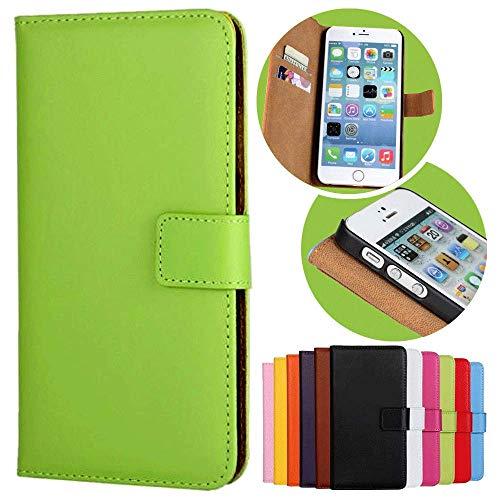 Roar Handy Hülle für HTC One M8, Handyhülle Grün, Tasche Handytasche Schutzhülle, Kartenfach & Magnet-Verschluss