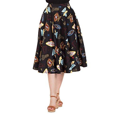 Voodoo Vixen Rock Pippa Las Vegas Skirt 3342 (M, Navy Blau)