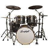 Sawtooth Command Series 5-Piece Drum Set Shell Pack, Silver Streak