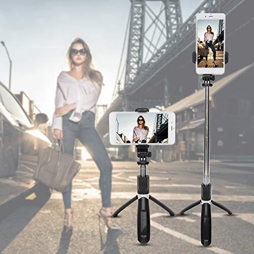 Bluetooth-Selfie-Stick, langlebiger Selfie-Stick mit Ständer zum Aufnehmen von Fotos für Smartphones
