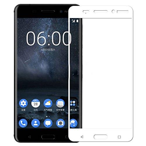 WOW Imagine Premium Full Glue 5D Full Edge-to-Edge Screen Protection Tempered Glass for Nokia 6 - White