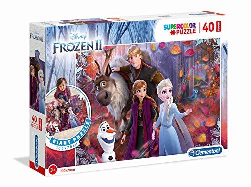 Clementoni 25464 Boden-Puzzle 40 Teile, (100cm x 70cm) -Disney Frozen (Eiskönigin II), für Kinder ab 3 Jahre