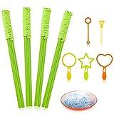 E-Know 10 Pack Seifenblasen-Stab Riesenseifenblasen für Seifenblasen Partei-Garten Spielzeug Outdoor Spielzeug