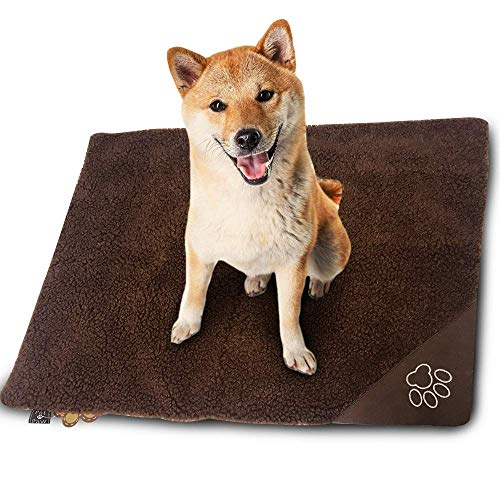 WarmShe Pet Bed Mat Self Heating Snooze Pad for Pets Cats, Dogs and Kittens for Travel or Indoor Outdoor Home, Coffee