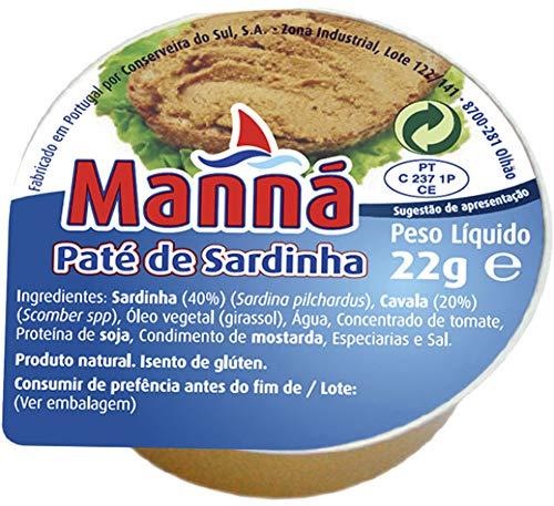 Manna - Paté de Sardina (24x22gr) - Pack 24 ud x 22 gr