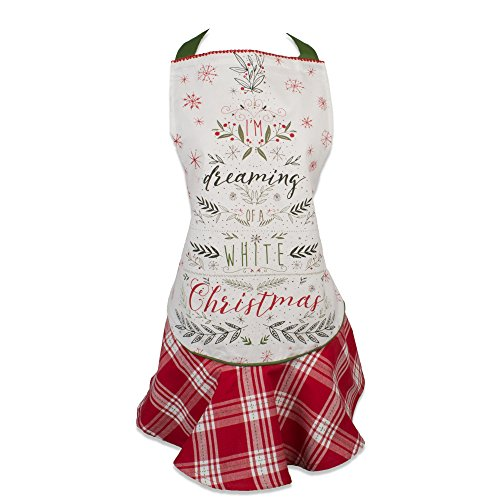 DII Holiday Tidings Kitchen Apron, One Size, I'm Dreaming