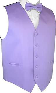 Italian Design, Men's Tuxedo Vest, Bow-Tie & Hankie Set in Lavender