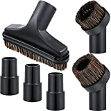 6 Pieces 25MM and 36MM Vacuum Brush Round Brush, 5.9 Inch Vacuum Floor Brush 1.25 Cleaner Vacuum Attachment Brush Soft Bristles Replacement with 1-1/4 Inch to 1-3/8 Inch Adapter