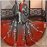 Vestido Hanfu para niñas, vestido chino tradicional Hanfu para mujer, de la dinastía Tang de la feria de la princesa del traje de Tang traje de baile popular de la etapa Power-L Code_Black