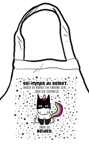 die stadtmeister Kochschürze/Grillschürze Sei Immer Du selbst, außer Du Kannst EIN Einhorn Sein oder EIN Superheld - dann sei beides!