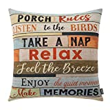 TRENDIN Square Pillow Cover - 18 X 18 Inch Decorative Throw...