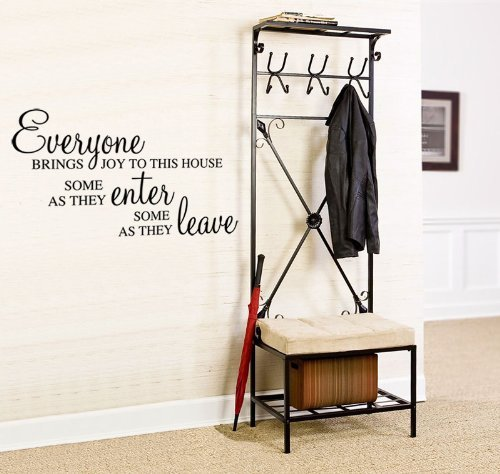 Wonderous Wall Art Everyone Bring Joy to This House, Some As They Enter and Some As They Leave-Wall Citation Noir Taille L
