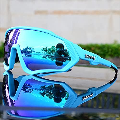 ERWEI Gafas de Sol Deportivas polarizadas, Gafas de Sol de Ciclismo polarizadas para Hombres Mujeres con 5 lenos Intercambiables para Correr béisbol Corriendo y Gafas de Ciclismo,K