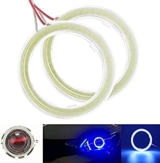 Qiilu QL00904 1 paio auto Halo Anelli Angel Eye COB Chip faro DRL LED per auto moto 60mm
