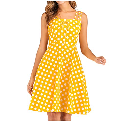 Elegante Kleid Damen Sommer Kleider Sommerkleid Knielang Bandeau Sexy Langes Vintage Festliches Schicke Rockabilly Petticoat Swing A Linien Tunika Lockeres Partykleid