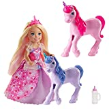 Barbie Dreamtopia Gift Set with Chelsea Princess Doll in Heart Dress, 2 Baby Unicorns and Accessories, Gift for 3 to 7 Year Olds