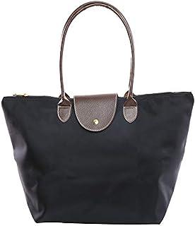 1Pcs Black Foldable Tote Bag WaterProof Nylon Everyday