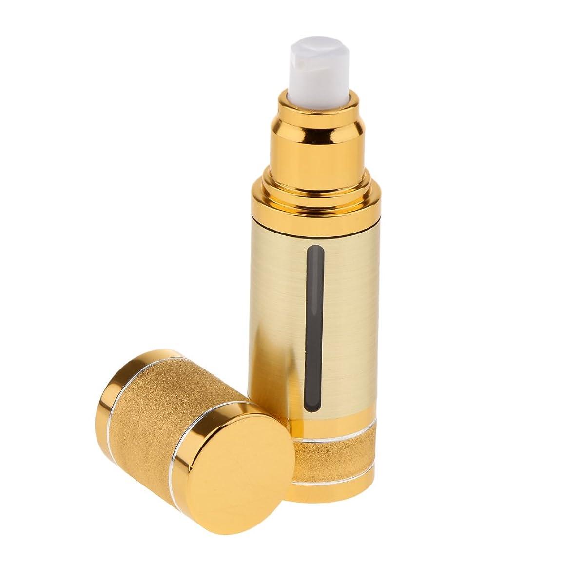 ポーズ講義リーチKesoto ポンプボトル 空ボトル エアレスボトル 30ml ローション クリーム 化粧品 詰め替え 容器 DIY 2色選べる - ゴールド