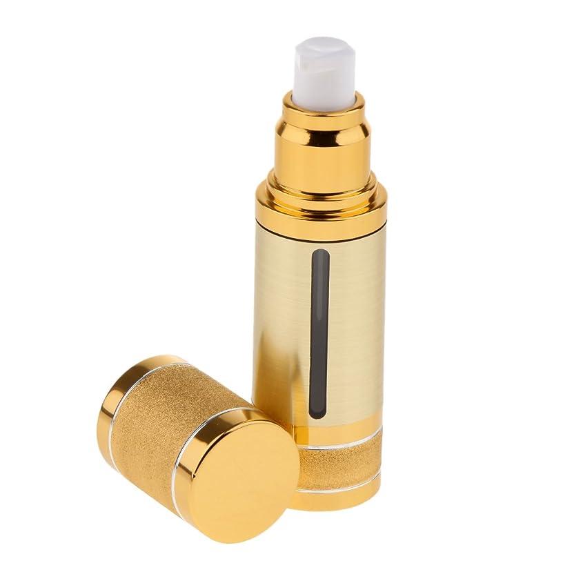 こしょう行商四Kesoto ポンプボトル 空ボトル エアレスボトル 30ml ローション クリーム 化粧品 詰め替え 容器 DIY 2色選べる - ゴールド