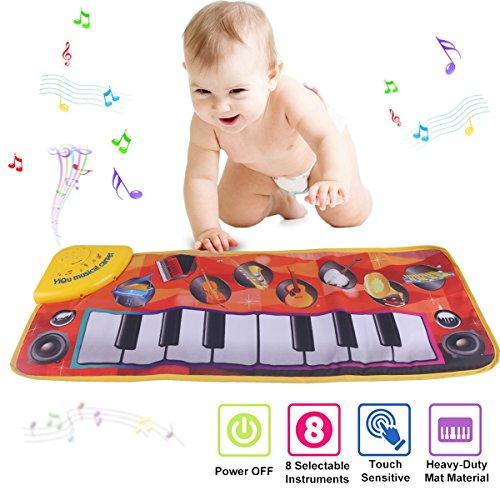 PROACC Klavier Matte, Kinder Elektronisch Tastatur Musik Spielmatte Spielzeug, Komisch Tanzen Matte Babys Jungen und Mädchen Geschenk