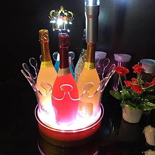 Cubo de Hielo LED, Cubo de Almacenamiento de Hielo, Barril Luminoso, Ideal para Fiestas, Bar y Picnic 26 * 19,5 * 27 Cm
