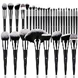 DUcare Brochas de Maquillaje Profesional Negro 32 pcs Maquillaje Profesional Pinceles Premium Synthetic Maquillaje de Ojos, Rubor, Contorno, Corrector, Pinceles Cosméticos