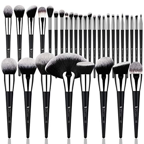 DUcare Professional Makeup Brush Set 32Pcs Makeup Brushes Premium Synthetic Kabuki Foundation Blending Brush Face Powder Blush Concealers Eye Shadows